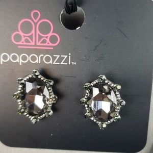 New Earrings POST Oval Faceted Smoke Stones
